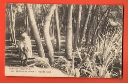IAV-15  Scènes Et Tpes. Dans La Forêt. Cachet Carthage 1922 Pour Douai France - Tunisia