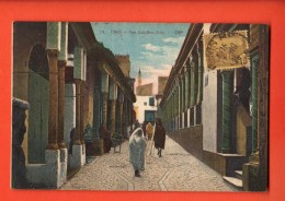 IAV-16  Tunis, Rue Sidi-Ben-ziad. ANIME. Cachet Frontal 1925 Pour Lille - Tunisia