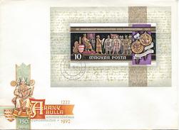 HUNGARY - 1972.FDC Sheet III.- Golden Bull And Millennium Of The Town Of Székesfehérvar  MI Bl.92 - FDC