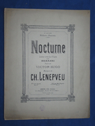 PARTITION GF PIANO CHANT NOCTURNE LENEPVEU HERNANI VICTOR HUGO 1881 WILLIAM CHAUMEL - Klassiekers