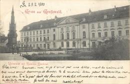 GRUSS AUS GREIFSWALD UNIVERSITAT MIT RUBENOW DENKMAL ALLEMAGNE DEUTSCHLAND - Allemagne