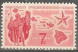 1959 7 Cents Airmail Hawaii Mint Never Hinged - Ongebruikt