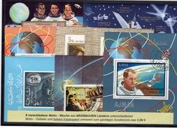 Kunst Raumfahrt 1971 Ajman 8 Blocks O 30€ Rakete Mond/Mars-Projekt Hojas Art Blocs NASA M/s Space Sheets S/s Bf VAE - Sciences