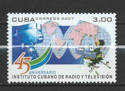 Cuba 2007 The 45th Anniversary Of The Cuban Radio And Television Institute.MNH - Cuba
