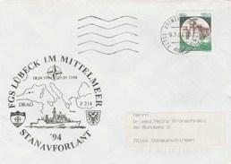 1994 Brindi ITALY NATO SHIP COVER German NAVY In MEDITERRANEAN Ship Lubeck ,stamps - NATO