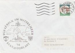 1994 Trieste ITALY NATO SHIP COVER German NAVY In MEDITERRANEAN Ship Lubeck ,stamps - NATO