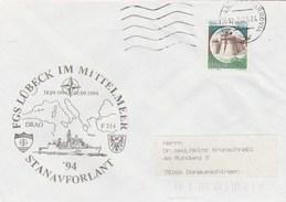 1994 Ancona ITALY NATO SHIP COVER German NAVY In MEDITERRANEAN Ship Lubeck ,stamps - NATO