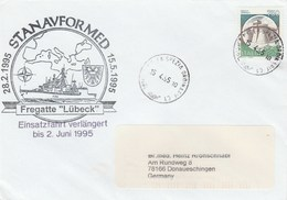 1995 La Spezia ITALY NATO SHIP COVER German NAVY In MEDITERRANEAN Ship Lubeck ,stamps - NATO