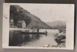 Bac - Barque - Passage De Rivière - Carte Photo - A Identifier - Animée - Cartes Postales