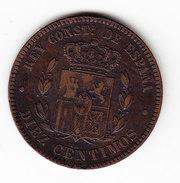 ESPAGNE KM 675 10ct 1879.   (DP66) - Monnaies Provinciales