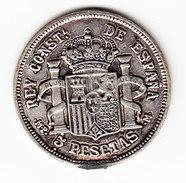 SPAIN 1882  5 Pesetas FAKE NOT IN SILVER. (PD19) - Espagne