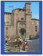 POSTCARD & STAMP 1970 YEARS SPAIN ESPAGNE ESPAÑA ESPANA GALICIA ORENSE CATHEDRAL CATHEDRALE & FOLK DANCE FOLKLORE - Orense