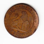 SPAIN KM 663 10 C 1870. (PD31) - Monnaies Provinciales