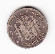 ESPAGNE  KM  691   1871, 1 PESETA SILVER.      ( 47 ) - Monnaies Provinciales