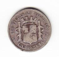 ESPAGNE  KM  653  1870 DEM, 1 PESETA SILVER.      ( 48 ) - Monnaies Provinciales