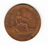 ESPAGNE  KM  662.3   1870  10 CENTIMOS.       ( 40 ) - Monnaies Provinciales