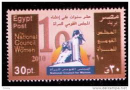 EGYPT / 2010 / THE NATIONAL COUNCIL FOR WOMEN / MNH / VF  . - Nuovi