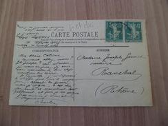 CPA Edit LL N°49 Blois Le Château Avec Paire Du N° 137 Perforés  BF Chatillon Coligny Le 04/06/1920 Pour Ranchal  TB - Perforés
