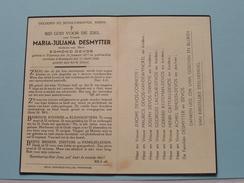 DP Maria-Juliana DESMYTTER ( Edmond Devos ) POPERINGE 20 Januari 1877 - 12 April 1944 ( Zie Foto's ) ! - Avvisi Di Necrologio