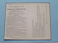 DP Mathilde VANTHUYNE ( Remi Depover ) THOUROUT 30 Juni 1857 - IEPER 4 April 1943 ( Zie Foto's ) ! - Avvisi Di Necrologio