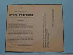DP Esther PATFOORT () BRUGGE 26 September 1895 - 15 Augustus 1943 ( Zie Foto's ) ! - Avvisi Di Necrologio