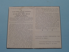 DP Cyriel DE ROO ( Vervaecke ) VINKT 26 Februari 1879 - Concentratiekamp 8 Feb 1944 DACHAU 2 Feb. 1945 ( Zie Foto's ) ! - Avvisi Di Necrologio