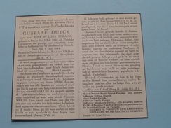 DP Gustaaf DUYCK ( FERAINE ) PITTEM 5 Juli 1920 - Kamp WOLFENBÜTTEL Duitsland 1 Juni 1944 ( PG / Zie Foto's ) ! - Avvisi Di Necrologio