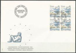SCHWEIZ 1983 MI-NR. 1264 VIERERBLOCK FDC - FDC