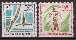 Dahomey - 1975 - PA N°Yv. 242 à 243 - JO Montreal - Neuf Luxe ** / MNH / Postfrisch