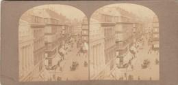 PHOTO Stereo ANCIENNE PARIS Place DE LA BOURSE - Fotos Estereoscópicas