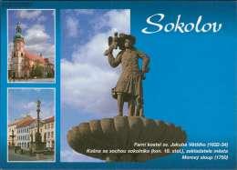 Sokolov - Farni Kostel Sv. Jakuba Vetsiho (1632-34) Mehrbildkarte - Tschechische Republik