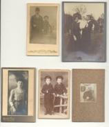 Lot De 5 Photos Sur Carton ( Petit Format) - Personnes Anonymes