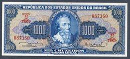 Brésil P 173b * 1000 Cruzeiros  1962 * AUNC * Série 2982  N° 087360 - Brasilien