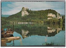 Slovenia Lago Di BLED Castello Panorama Con Barca - Slovénie