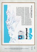 Feuillet. Cachet 68e Tour De France Cycliste. Le Pleynet 15 Juillet 1981 - Marcophilie (Lettres)
