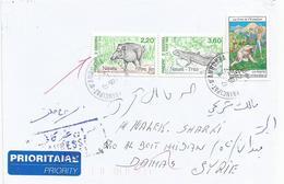 Andorra 2004 Wild Boar Salamander Returned Instructional Handstamp Cover Syria Syrie Syrien - Syrië