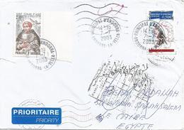 Andorra 2003 Cycling Tour De France Returned Unclaimed Instructional Handstamp Cover Egypt - Egypte