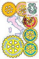 [MD0711] CPM - 50° DELLA FONDAZIONE DEL ROTARY ITALIANO - MAXIMUM CAERD ROMA N° 51 - CON ANNULLO 29.11.1973 - NV - Cartoline