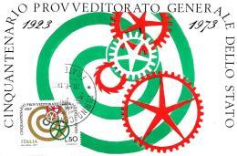 [MD0712] CPM - 50° PROVVEDITORATO GENERALE DELLO STATO - MAXIMUM CAERD ROMA N° 30 - CON ANNULLO 20.6.1973 - NV - Cartoline