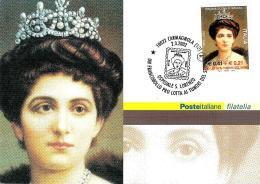 [MD0717] CPM - REGINA ELENA DI SAVOIA 1873-1952 - OSPEDALE S. LORENZO - LOTTA AI TUMORI - CON ANNULLO 2.3.2002 - NV - Cartoline