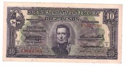 Uruguay, 10 Pesos, 1939, XF.   Free Ship. To USA. - Uruguay