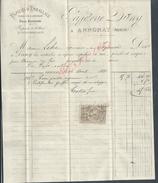 FACTURE DE 1881 PAPETERIE DUNY PAPIERS D EMBALLAGE À ANNONAY POUR Md LEBRE À JOYEUSE : - 1800 – 1899