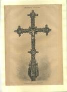 ESPAGNE . LE CHRIST DE LA CATHEDRALE DE LEON . GRAVURE SUR BOIS XIXeS. DECOUPEE ET COLLEE SUR PAPIER . - Religion & Esotérisme