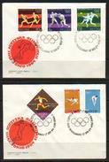 POLAND FDC 1964 TOKYO JAPAN OLYMPICS & MS Weight Lifting Boxing Football High Jump Diving Rowing Running Soccer