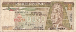 GUATEMALA   1/2 Quetzal   9/1/1985   P. 65 - Guatemala