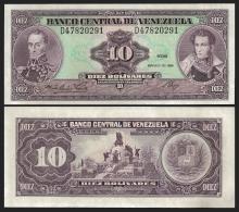 Venezuela 10 BOLIVARES 1986 P 61b UNC - Venezuela