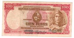 Uruguay, 100 Pesos, 1939, VF.   Free Ship. To USA. - Uruguay