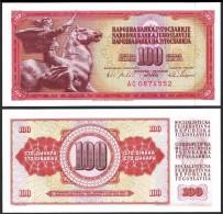 Yugoslavia 100 DINARA 1965 P 80c UNC  YOUGOSLAVIE - Yugoslavia