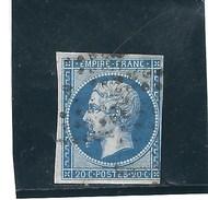 France N° 14A  O   Val: YT : 2,00 € - 1853-1860 Napoléon III