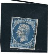 France N° 14A  O   Val: YT : 2,00 € - 1853-1860 Napoleon III